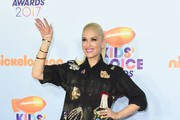 Recording artist Gwen Stefani arrives for the 30th Annual Nickelodeon Kids' Choice Awards, March 11, 2017 at the Galen Center on the University of Southern California campus in Los Angeles. / AFP PHOTO / Valerie MACON