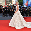 Hofit Golan in a Stunning White Ball Gown