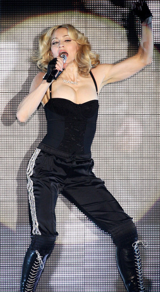 In A Corset Top And Sequined Track Pants At A 2008 Performance In Maidstone, England