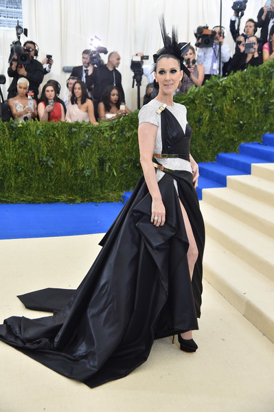 Celine Dion in Atelier Versace at the Met Gala