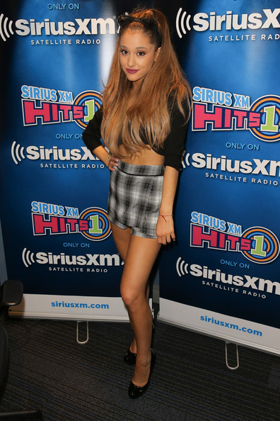 Wearing Her Signature Kitty Ears And Plaid Shorts For A SiriusXM Event