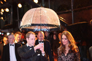 Prince William, Duke of Cambridge and Catherine, Duchess of Cambridge attend the UK premiere of War Horse at Odeon Leicester Square on January 8, 2012 in London, England.