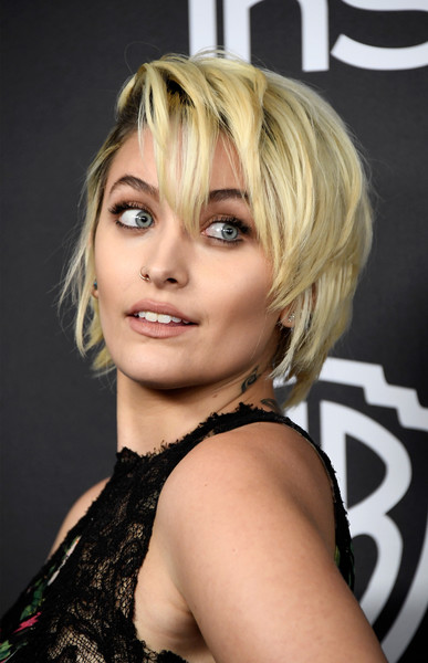 Paris Jackson's Side-Swept Layers at a Golden Globes Party