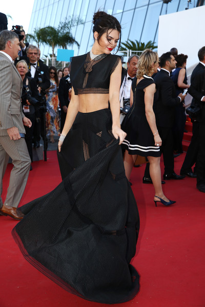006f91667af14b Kendall Jenner in a Black Crop-Top and Skirt Set - Every Gorgeous ...