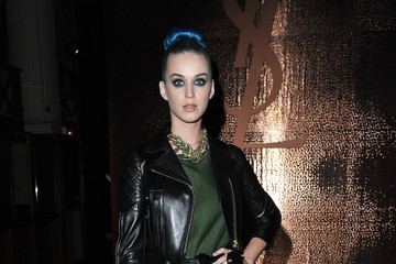 Katy Perry Is Decked Out in Leather for YSL's Paris Show