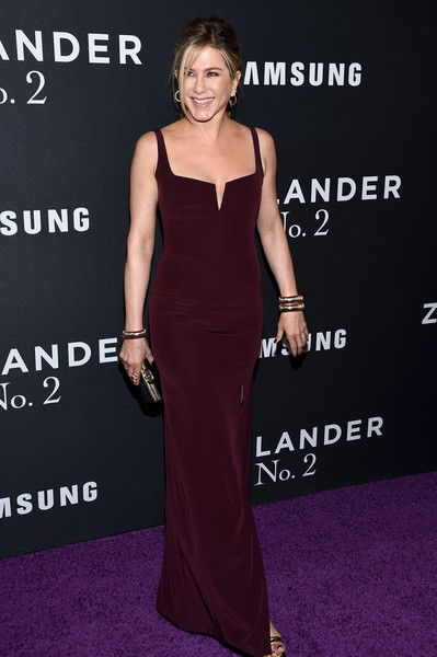 In Burgundy At The 'Zoolander 2' NYC Premiere