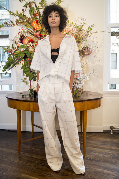 Adam Lippes at New York Spring 2018 [clothing,white,pantsuit,suit,fashion,outerwear,formal wear,plant,fashion design,floristry,adam lippes,fashion,suit,clothing,fashion week,costume,lookbook,runway,new york fashion week,fashion show,new york fashion week,fashion,fashion week,suit,clothing,costume,fashion show,lookbook,runway]