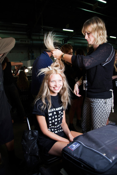 Alexander Wang at New York Spring 2014 (Backstage)