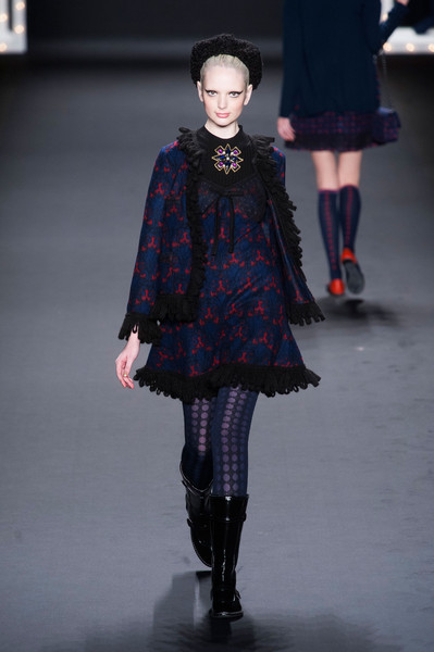 Anna Sui at New York Fall 2013