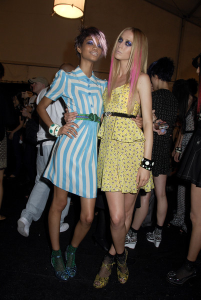 Anna Sui at New York Spring 2008 (Backstage)