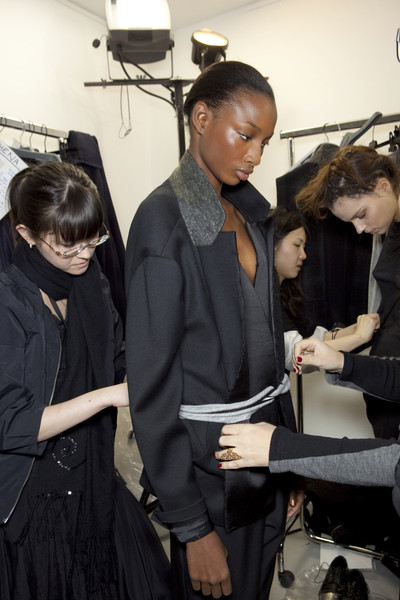 Anne Valérie Hash at Paris Fall 2010 (Backstage)