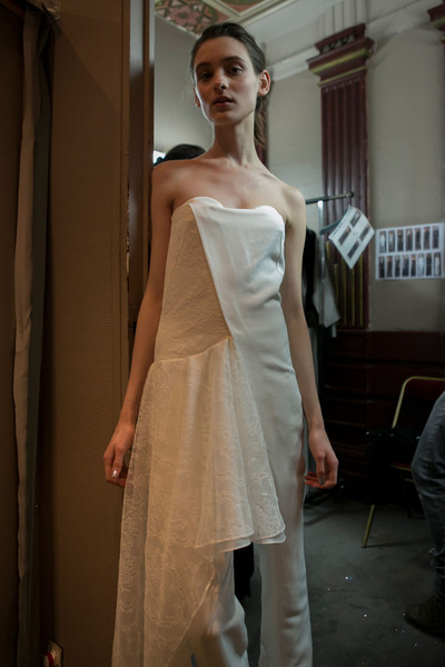 Anne Valérie Hash at Paris Fall 2013 (Backstage)