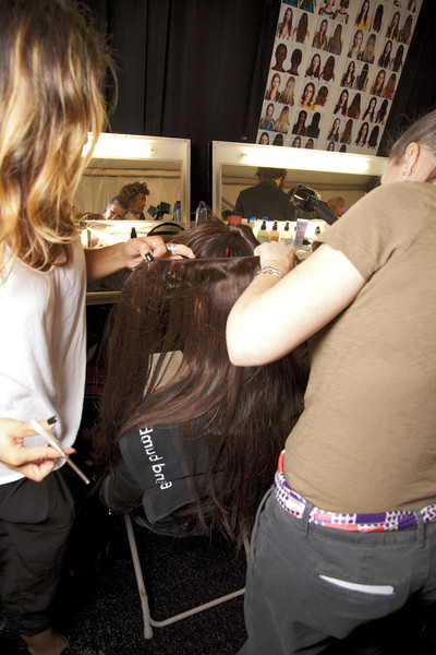 BCBG Max Azria at New York Spring 2012 (Backstage)
