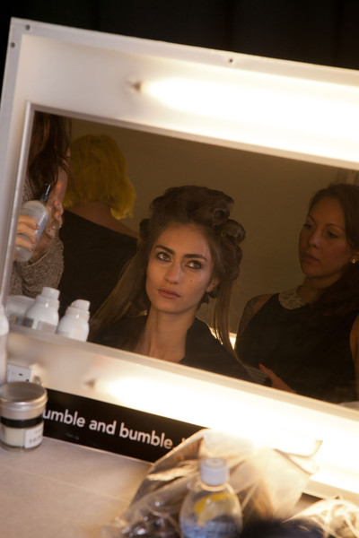 BCBG Max Azria at New York Spring 2013 (Backstage)