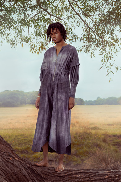 Bad Habits London at London Fall 2021 [image,hair,sky,arm,plant,people in nature,tree,dress,flash photography,branch,neck,outerwear,dress,persona,annie grace,habits,standing sky,nature,london,london fashion week,annie grace,outerwear / m,1970s,outerwear,standing sky,image,dress,the london college of style ltd,persona,nature]