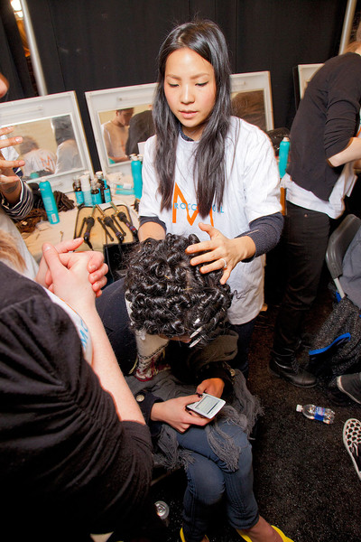 Badgley Mischka at New York Fall 2012 (Backstage)