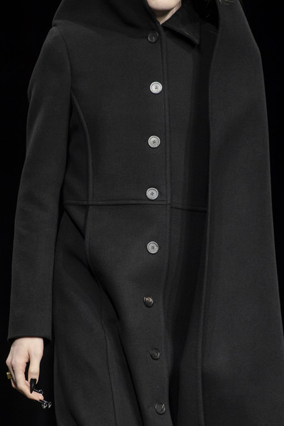 Balenciaga at Paris Fall 2020 (Details) [clothing,outerwear,overcoat,coat,collar,button,trench coat,sleeve,jacket,formal wear,outerwear,gentleman,overcoat,woolen,wool,coat,clothing,trench coat,balenciaga,paris fashion week,overcoat,woolen,wool,gentleman]