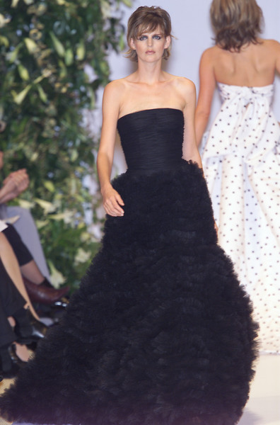 Balmain at Couture Spring 2001 [couture spring 2001,clothing,dress,gown,fashion model,bridal party dress,fashion,strapless dress,haute couture,shoulder,formal wear,dress,dress,supermodel,haute couture,fashion,wedding dress,model,balmain,fashion show,balmain,fashion show,haute couture,fashion,model,wedding dress,supermodel,runway,little black dress]