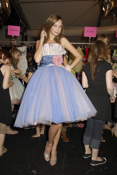 Betsey Johnson at New York Spring 2008 (Backstage)