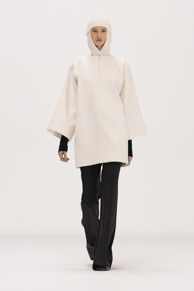 Bevza at New York Fall 2021 [clothing,outerwear,shoe,leg,neck,sleeve,waist,collar,street fashion,headgear,collar,coat,clothing,costume,model,bevza,neck,sleeve,waist,new york fashion week,coat,alexander mcqueen,clothing,ready-to-wear,costume,fendi,model,celine]
