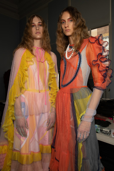 Bora Aksu at London Fall 2020 (Backstage)