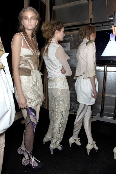 Bora Aksu at London Spring 2010 (Backstage)