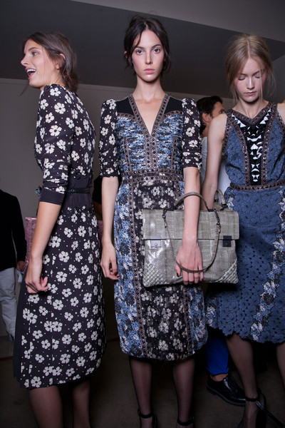 Bottega Veneta at Milan Spring 2013 (Backstage)