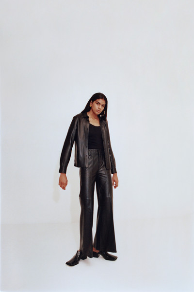 Boutet at Paris Spring 2021 [clothing,standing,outerwear,shoulder,brown,jacket,leather,joint,sleeve,footwear,outerwear,footwear,brown,standing,clothing,shoulder,joint,sleeve,boutet,paris fashion week]
