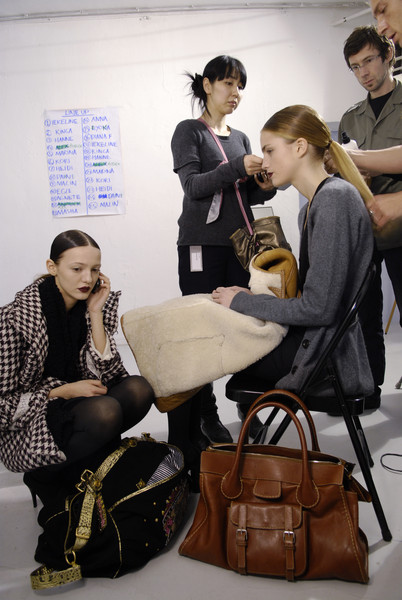 Bruno Pieters at Paris Fall 2008 (Backstage)