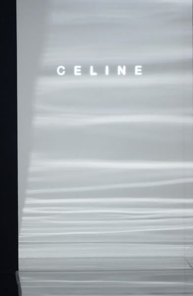 Céline at Paris Fall 2003 [window covering,material property,transparency,paper,celine,window,daylighting,product,font,material property,black white m,transparency,paper,paris fashion week,window covering,window,daylighting,black white m,product,font,line,meter]