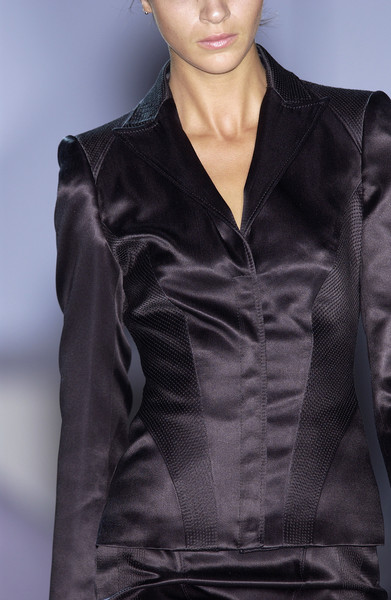 Cerruti at Milan Spring 2004 (Details) [fashion model,clothing,fashion,leather,leather jacket,outerwear,satin,fashion show,hairstyle,haute couture,leather jacket,supermodel,fashion,leather,haute couture,runway,jacket,model,milan fashion week,fashion show,runway,fashion show,model,fashion,haute couture,supermodel,zado leather jacket,leather jacket,jacket,leather]