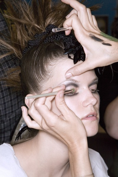 Christian Lacroix at Couture Fall 2008 (Backstage)