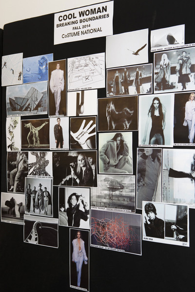 Costume National at Milan Fall 2014 (Backstage)