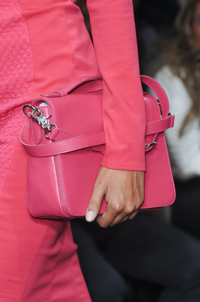 DKNY at New York Fall 2013 (Details) [pink,clothing,fashion,red,magenta,blazer,outerwear,street fashion,haute couture,jacket,bag,socialite,fashion,model,black,street fashion,pink,clothing,new york fashion week,dkny,handbag,dkny,bag,fashion,socialite,model,black]