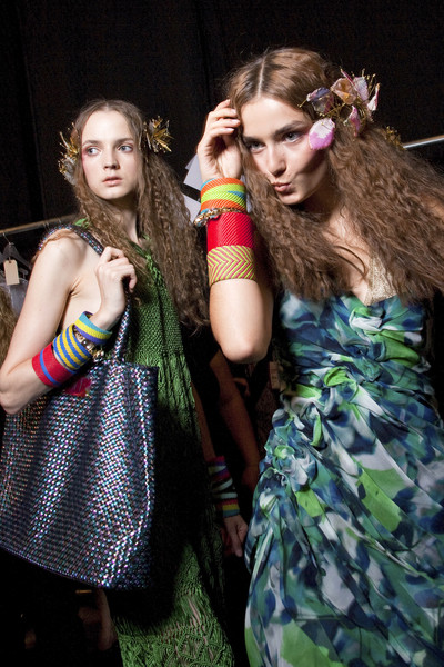 Diane von Furstenberg at New York Spring 2010 (Backstage)