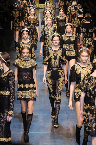 Dolce & Gabbana at Milan Fall 2012