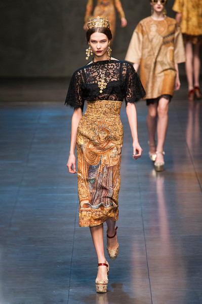 Dolce & Gabbana at Milan Fall 2013
