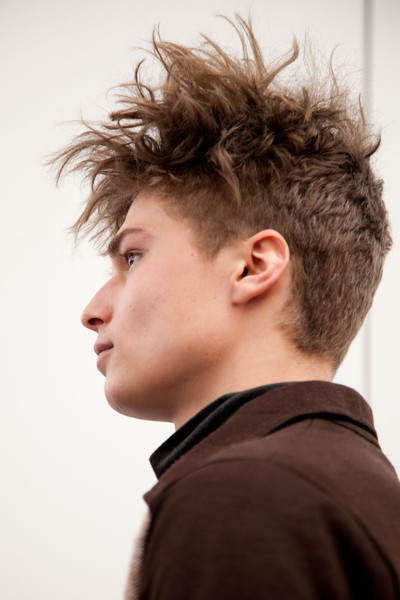 Duckie Brown at New York Fall 2012 (Backstage)