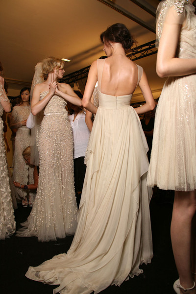 Elie Saab at Couture Fall 2011 (Backstage)