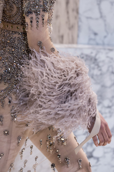 Elie Saab at Couture Spring 2017 (Details) [water,fashion,haute couture,joint,hand,dress,bridal accessory,shoulder,fun,neck,dress,haute couture,wedding dress,fashion,fashion week,model,sleeve,elie saab,couture spring 2017,fashion show,wedding dress,haute couture,fashion,paris fashion week,model,fashion show,fashion week,dress,sleeve]