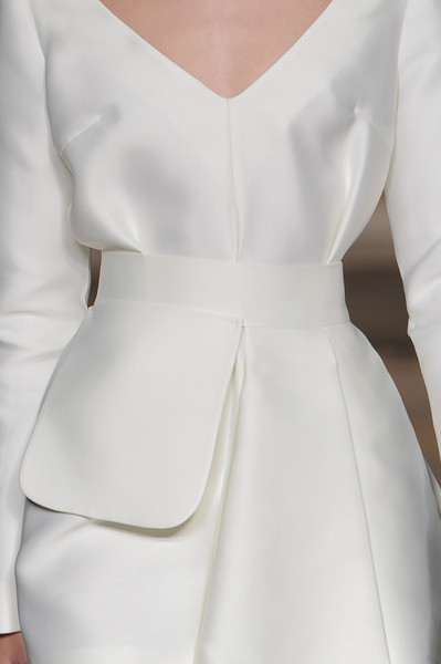 Emilia Wickstead at London Spring 2015 (Details) [clothing,white,dress,shoulder,formal wear,fashion,neck,haute couture,satin,cocktail dress,dress,fashion,wedding dress,wear,haute couture,clothing,sleeve,shoulder pads,fashion design,london fashion week,wedding dress,fashion,dress,clothing,shoulder pads,haute couture,sleeve,ruffle,fashion design,casual wear]