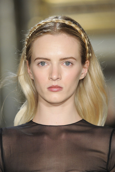 Emilio Pucci at Milan Fall 2012 (Details) [hair,face,eyebrow,hairstyle,blond,fashion,lip,beauty,head,chin,blond,supermodel,emilio pucci,fashion,beauty,hair,vogue,model,lip,milan fashion week,daria strokous,model,fashion,supermodel,blond,vogue,headpiece,layered hair,beauty]