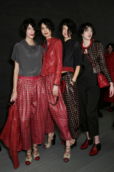 Emporio Armani at Milan Fall 2015 (Backstage)