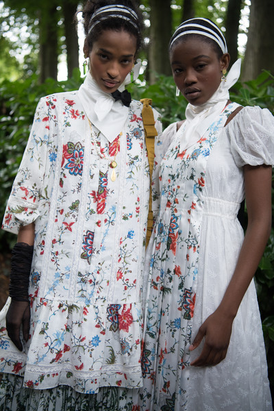 Erdem at London Spring 2021 (Backstage) [season,tradition,adaptation,dress,erdem moral\u0131o\u011flu,volcano lover,susan sontag,brand,tradition,adaptation,spring,london fashion week,the volcano lover,dress,erdem,susan sontag,spring,erdem moral\u0131o\u011flu,season,brand]