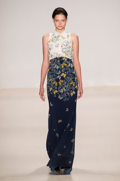 Erin Fetherston at New York Spring 2015 [fashion model,fashion show,clothing,fashion,runway,dress,waist,haute couture,neck,one-piece garment,gown,runway,fashion,haute couture,model,cobalt,fashion model,cobalt blue,new york fashion week,fashion show,runway,fashion show,haute couture,fashion,model,cobalt blue,gown,two pence,cobalt]