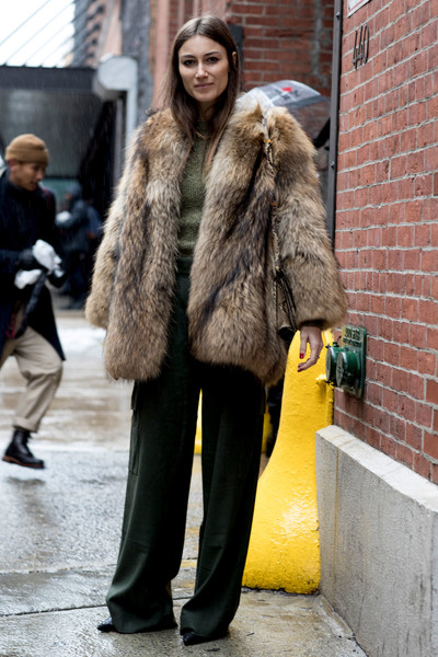 Earth Tones - These Street Style Stars Wore the BEST Faux Fur ...