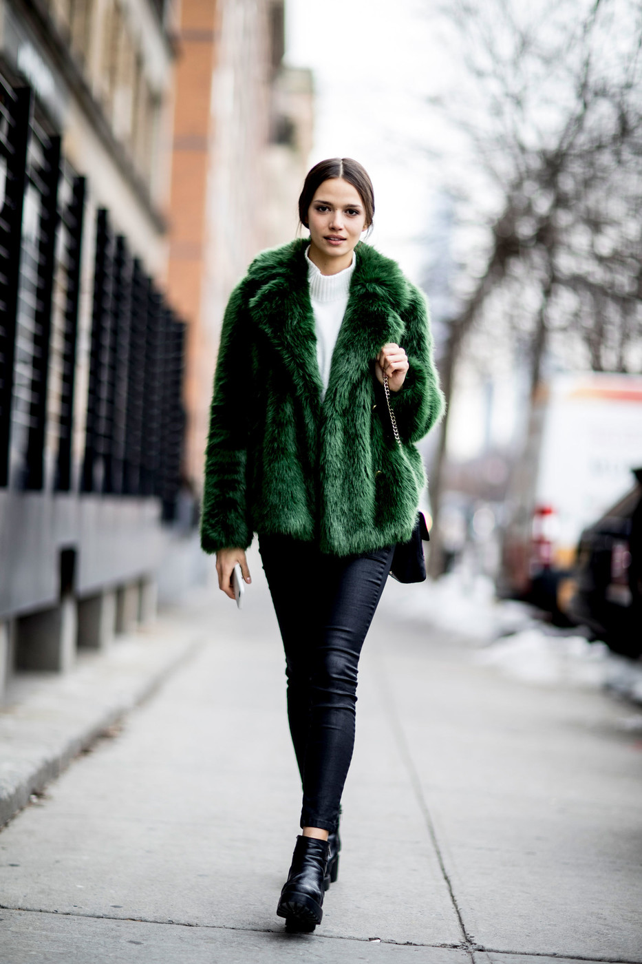 Emerald Green These Street Style Stars Wore The Best