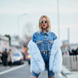 Powder Blue On Denim