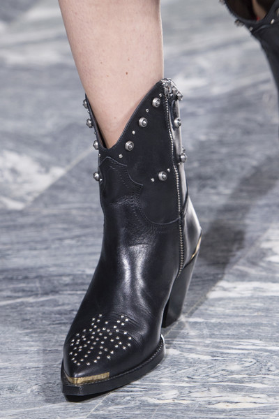 Fausto Puglisi at Milan Spring 2018 (Details) [footwear,fashion,shoe,black,boot,ankle,street fashion,human leg,leg,joint,shoe,shoe,fashion,boot,riding boot,runway,street fashion,model,equestrianism,milan fashion week,shoe,riding boot,high-heeled shoe,sandal,runway,fashion,model,boot,equestrianism]