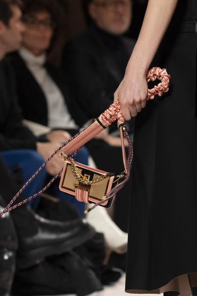 Fendi at Milan Fall 2020 (Details) [fashion,hand,event,fashion accessory,jewellery,fashion accessory,musician,socialite,string,string instrument,hand,fendi,milan fashion week,event,string instrument,musician,jewellery,socialite,string,m]